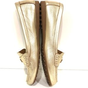 Coach Shoes - COACH Fredrica Gold Driving Loafer Size 8.5